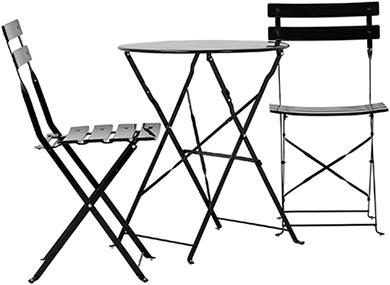 Balkongbord och stolar