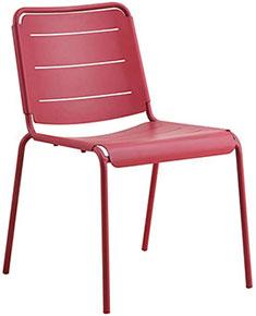 Balkongstol i marsala-röd aluminium