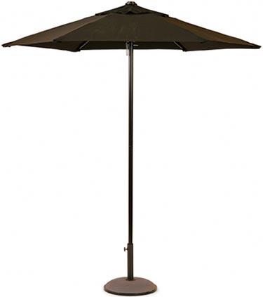 Stadig parasoll i svart aluminium och polyester
